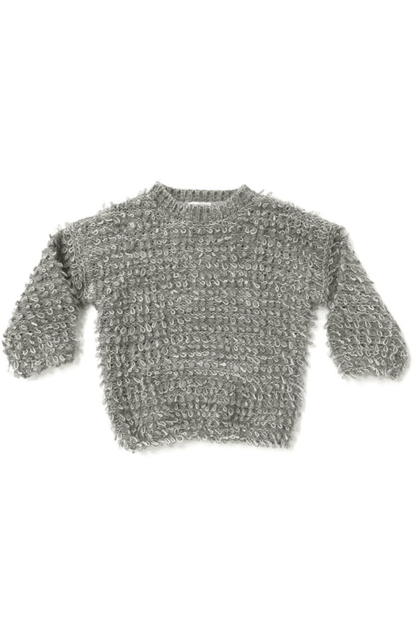looped knit sweater by Rylee & Cru