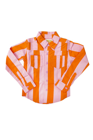 Striped collared shirt by Hugo Loves Tiki