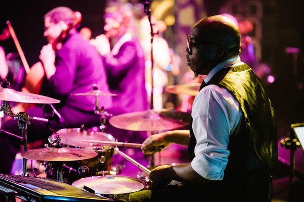 Tyrone Hendrix at the drum kit.