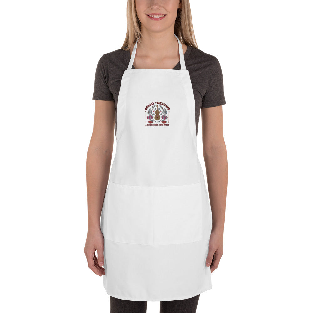 Cello Tuesdays (A Side Dish for your Tacos) Embroidered Apron