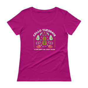 Women's Cello Tuesdays (A Side Dish for your Tacos) T-Shirts!