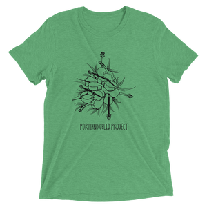 """Cello Pile"" Short Sleeve T-Shirt in multiple colors (Men's/Unisex)"