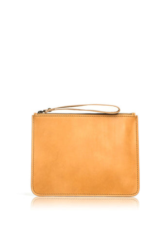 leather clutch natural