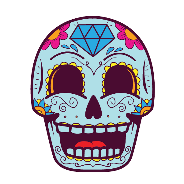 Candy Skull (Blue) - Kromebody