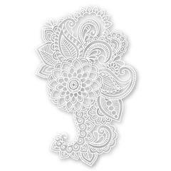 Mandala Ornament (White)