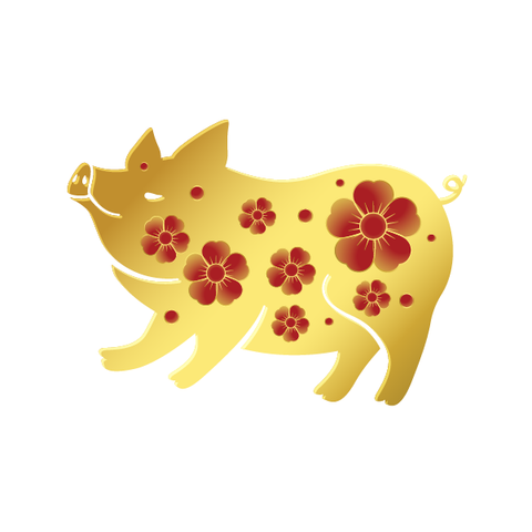 Pig with flowers - Kromebody