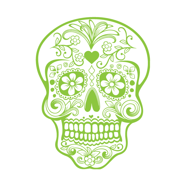 Glow-in-the-dark: Candy Skull - Kromebody