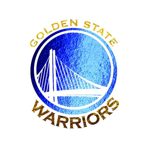 Warriors Logo - Metallic Blue & Gold - Kromebody