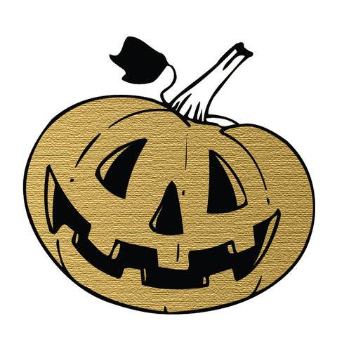 Halloween Party: Smiling Pumpkin (Gold)