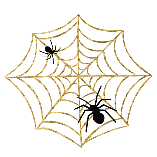 Halloween Party: Spider and Web (Silver) - Kromebody