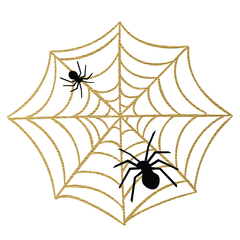 Halloween Party: Spider and Web (Gold) - Kromebody