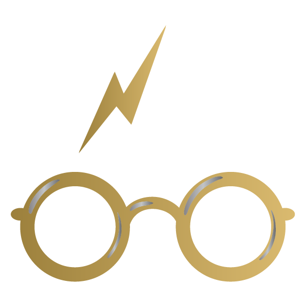 Harry Potter: glasses and bolt (Gold & Silver) - Kromebody