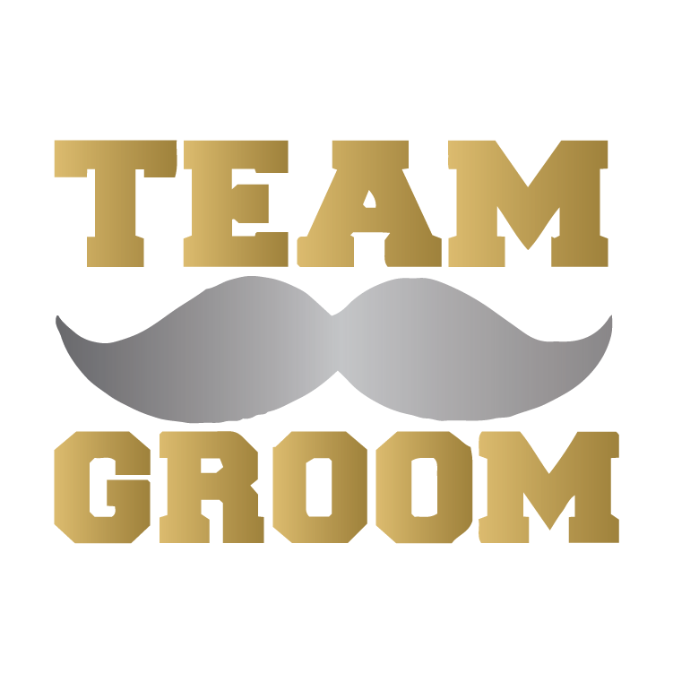 Team Groom with Mustache - Gold/Silver - Kromebody