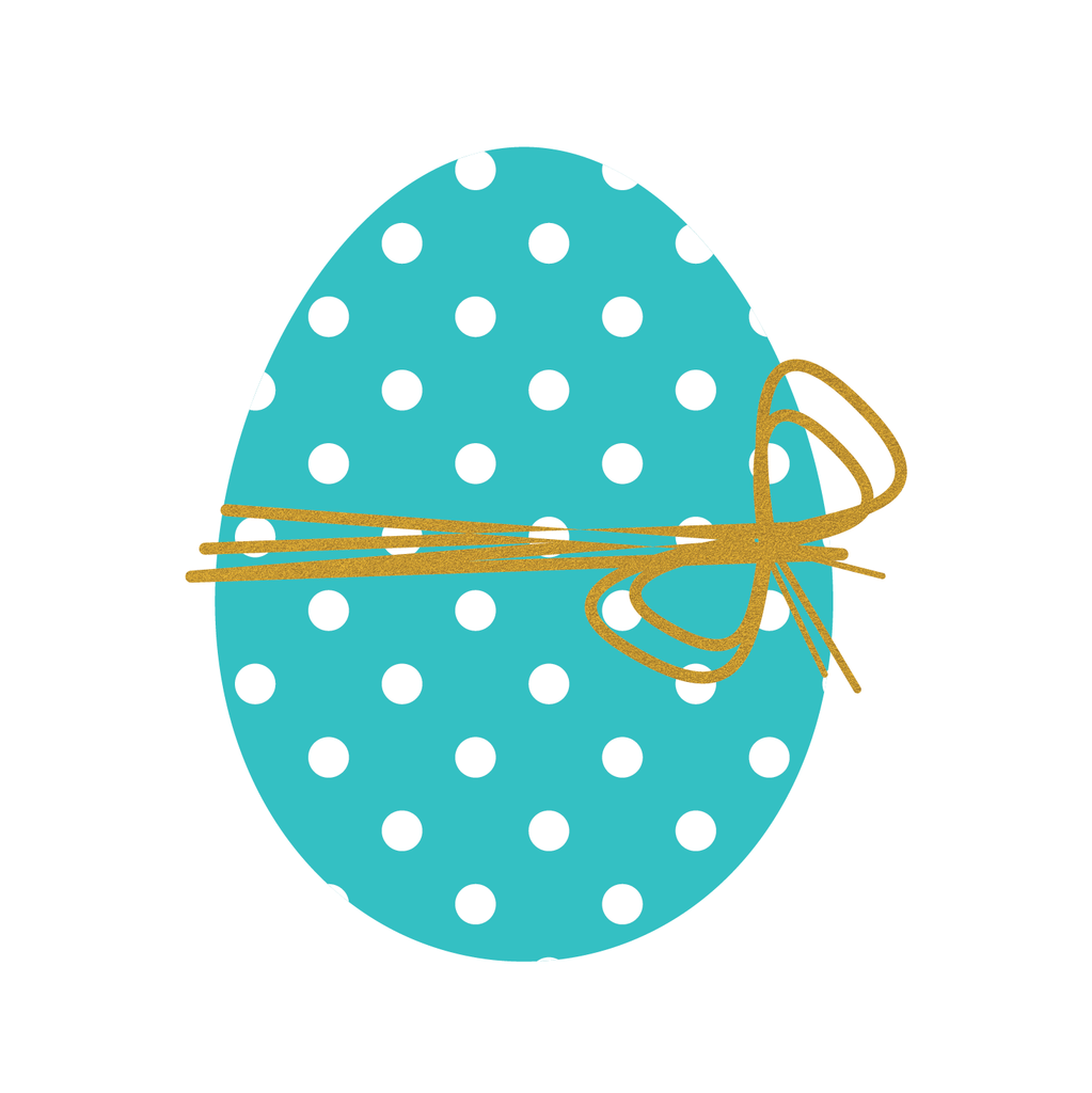 Easter Egg (Blue and Gold)