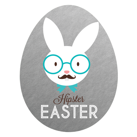 Hipster Easter (Silver)
