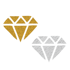 Bachelorette: Gold and Silver Diamonds Tattoo - Kromebody