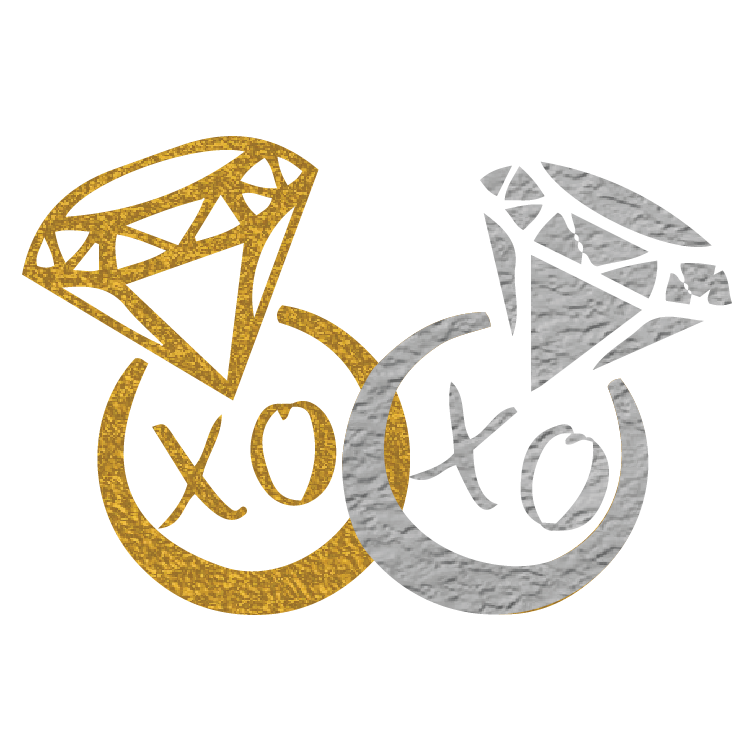 Bachelorette: XOXO Gold and Silver Diamond Rings - Kromebody