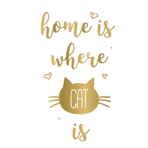 Home is Where Cat is (Gold)