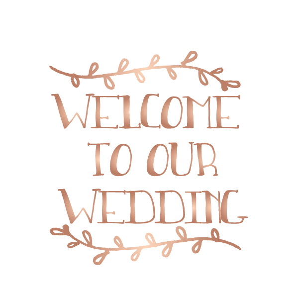 Welcome to our wedding - Kromebody