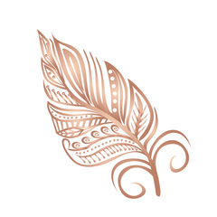 Rose Gold Feather - Kromebody