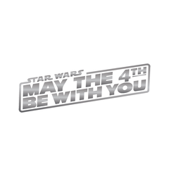 Star Wars: may the 4th be with you (Silver)