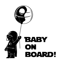 Baby in board: baby darth vader - Kromebody