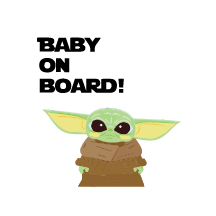 Baby on board:  Baby Yoda - Kromebody