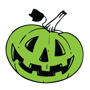 Glow-In-The-Dark: SMILING Pumpkin