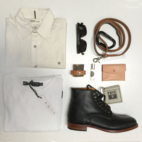 walter lace-up flat lay and styling