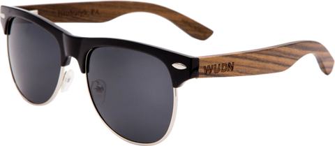 WUDN Handcrafted - Sunglasses Mens & Women's Zebrawood RetroShade