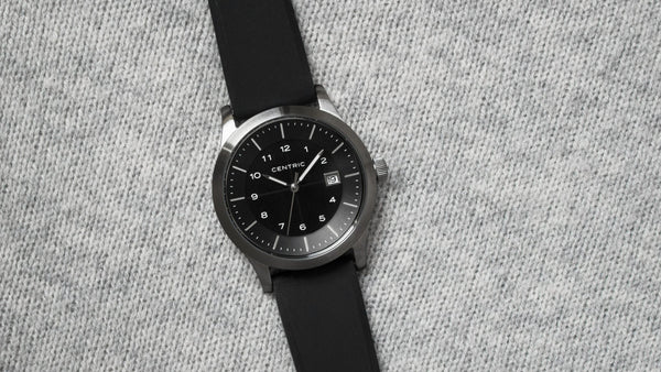 Lightwell Field Watch -- Black & Silver - VISCERA