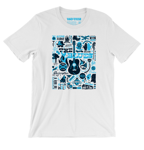 The Blues - Men's Unisex White Short Sleeve T-shirt
