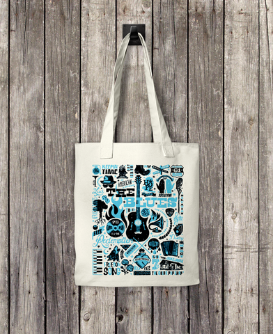 The Blues - Bull Denim Woven Cotton Tote Bag