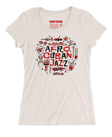 The Roots Of Afro Cuban Jazz -  Women's Tri-Blend Oatmeal Scoop Neck SS T-shirt