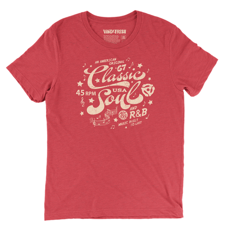 Classic Soul - Men's Unisex Triblend Red Short Sleeve T-shirt