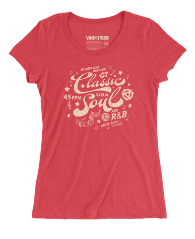 Classic Soul - Women's Triblend Red Scoop Neck SS T-shirt