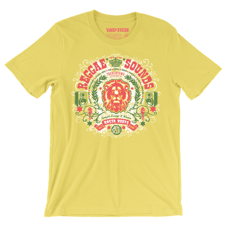 Reggae Sounds - Men's Unisex Yellow Short Sleeve T-shirt