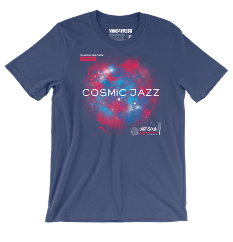 Cosmic Jazz - Men's Unisex Navy Short Sleeve T-shirt