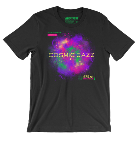 Cosmic Jazz - Men's Unisex Black Short Sleeve T-shirt