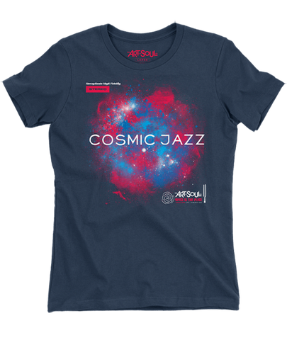 Cosmic Jazz - Women's Midnight Short Sleeve Boyfriend T-shirt