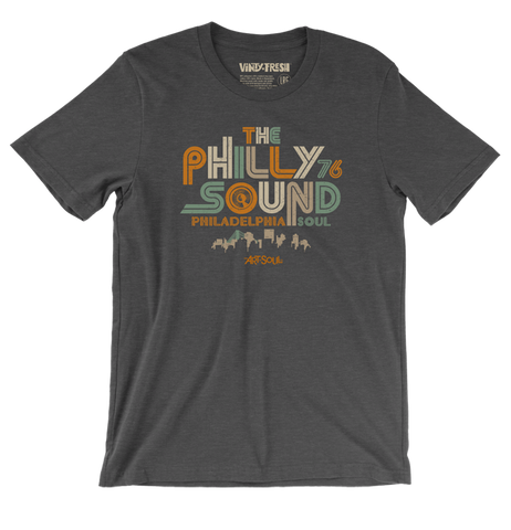 The Philly Sound 76 - Men's Unisex Dark Grey Heather Short Sleeve T-shirt