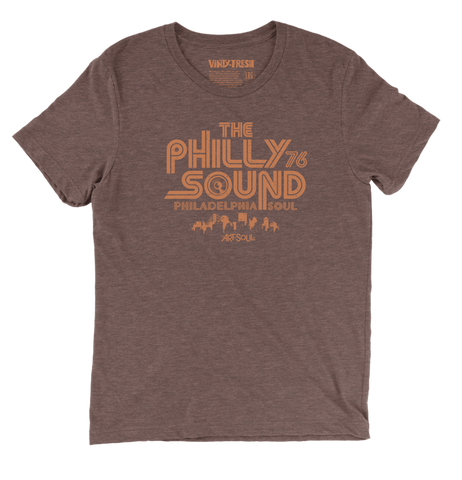 The Philly Sound 76 - Men's Unisex Triblend Brown Short Sleeve T-shirt