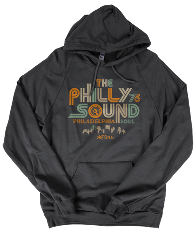 The Philly Sound 76 - Unisex Asphalt Grey Fleece Pullover Hoodie