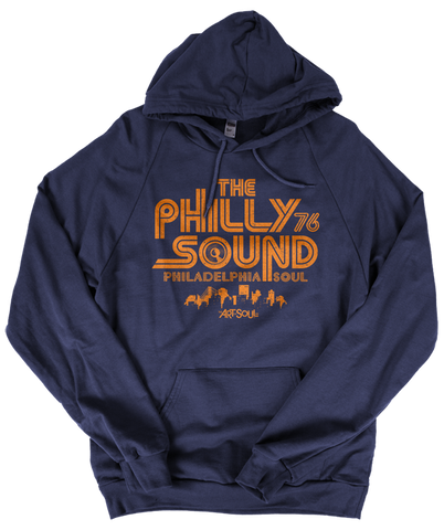 The Philly Sound 76 - Unisex Navy Blue Fleece Pullover Hoodie