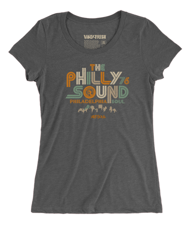 The Philly Sound 76 - Women's Triblend Dark Grey Scoop Neck SS T-shirt