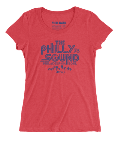 The Philly Sound 76 - Women's Triblend Red Scoop Neck SS T-shirt