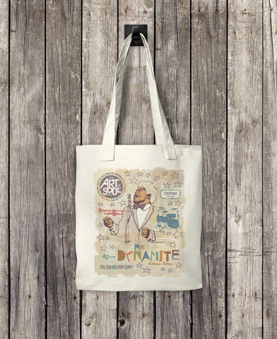 Mr. Dynamite - Bull Denim Woven Cotton Tote Bag