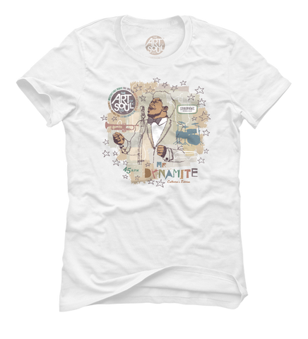 Mr. Dynamite - Women's White Short Sleeve T-shirt