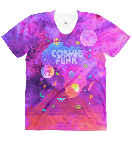 Cosmic Funk - Women's All-Over-Printed Short Sleeve T-shirt