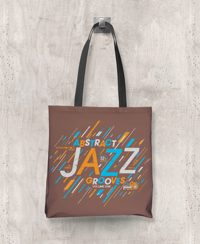 Abstract Jazz Grooves Vol. 1 - All-Over Printed Poly Tote Bag (Brown)